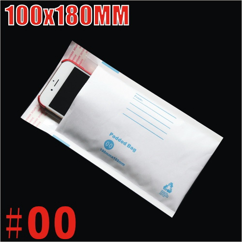 100x180mm Plain White Bubble Padded Bag Mailer Envelope