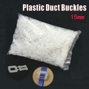1000 pcs 15mm Plastic Duct Buckles
