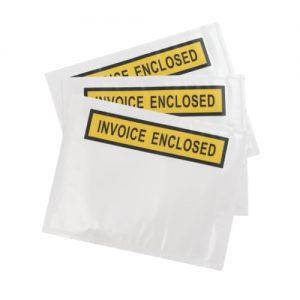 1000pcs 115mm x 150mm Invoice Enclosed Sticker Pouch