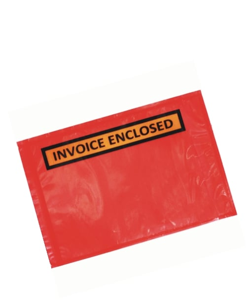 Pcs Mm X Mm Invoice Enclosed Sticker Pouch Red Backing - Invoice enclosed pouches