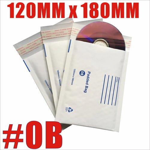 200pcs 120mm x 180mm Bubble Padded Mailer Envelope