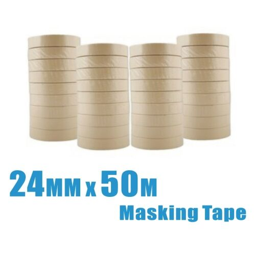 8 rolls 24mm x 50m General Purpose Masking Tape