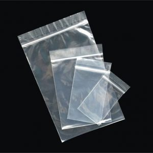 1000pcs 100x205mm Resealable Ziplock Plastic Bags
