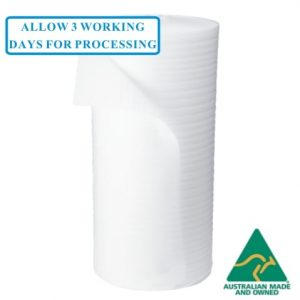 1mm Thick 1200mm x 500m Polyfoam Wrap