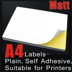 100pcs A4 Matte Self Adhesive Sticker Labels