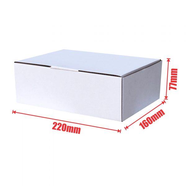 White 100pcs 220 x 160 x 77mm Diecut Mailing Box