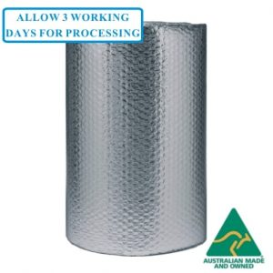 Foil 1500mm Bubble Wrap 10mm Bubbles