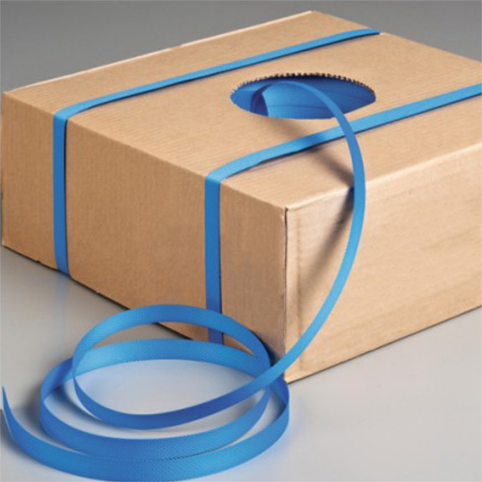 15mm x 1000m Plastic Hand Strap Blue Polypropylene Strapping