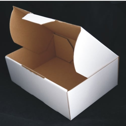White 100pcs 220 x 160 x 77mm Diecut Mailing Box