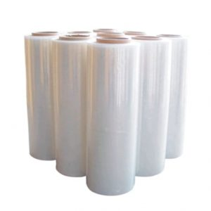 4 Rolls of 500mm x 400m Clear Hand Stretch Film Cast Pallet Wrap