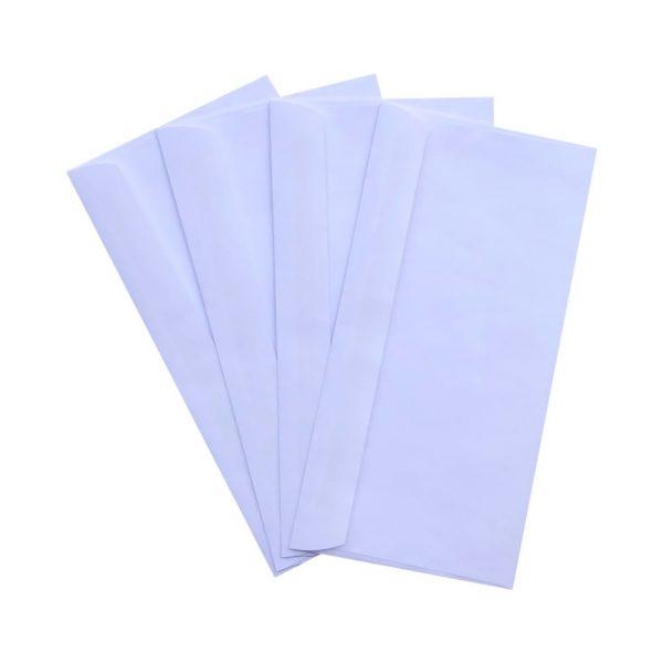 1000pcs DL White Plainface Envelopes 110mm x 220mm