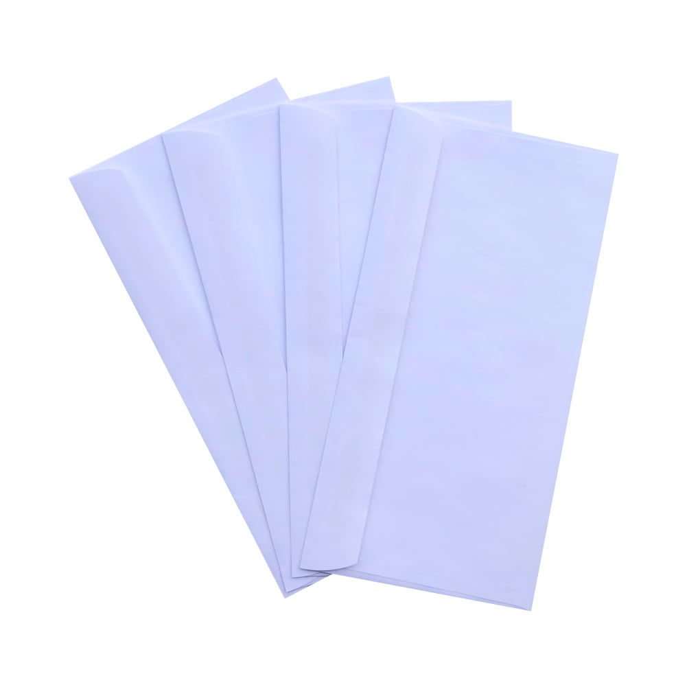 1000pcs DL White Plainface Envelopes 110mm x 220mm