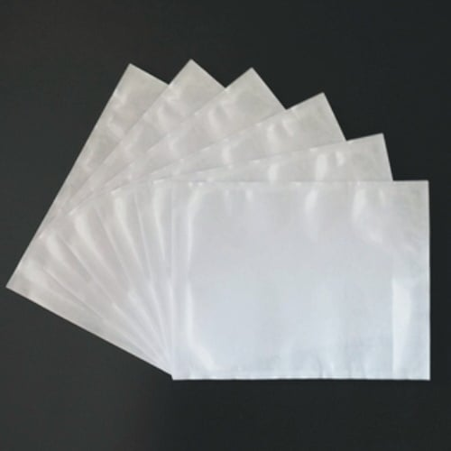 500pcs 150mm x 230mm Invoice Enclosed Sticker Pouch Plain