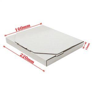 200pcs 220 x 160 x 16mm Diecut Flat Mailing Box