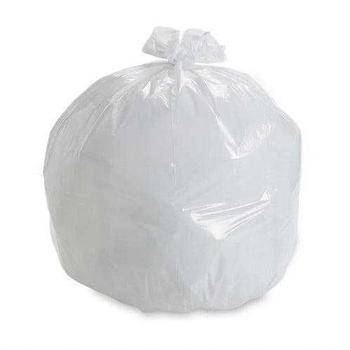 27Liter White Bin Liners Garbage Bags 1000pcs