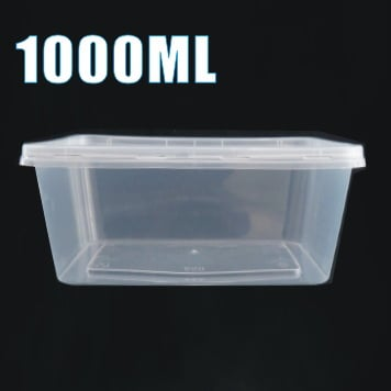 1000ml plastic food takeaway container