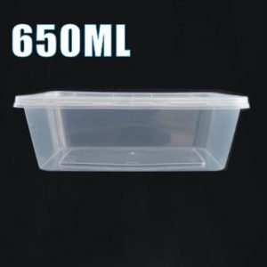 650ml plastic takeaway food container