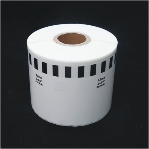 10 REFILL ROLLS DK22205 BROTHER COMPATIBLE CONTINUOUS LABELS 62mmx30.48m