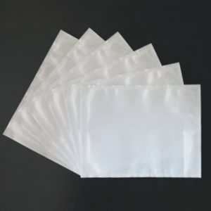 1000pcs 115mm x 150mm Invoice Enclosed Sticker Pouch Plain