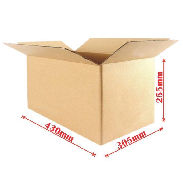 25pcs 430 X 305 X 255mm Regular Slotted Mailing Box