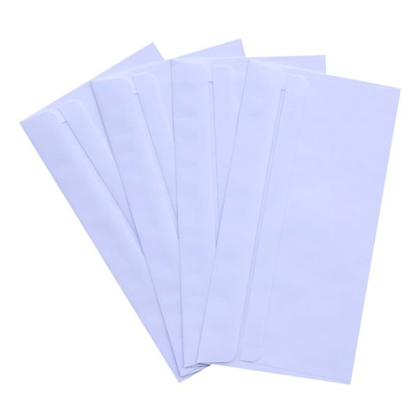 1000pcs DLX White Plainface WALLET SELF SEAL Envelopes 120mm x 235mm