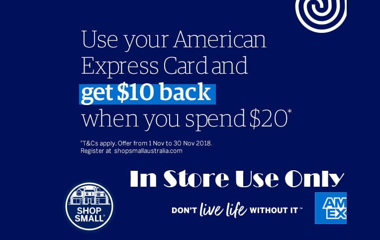 Use your American Express Card and get $10 back when you spend $20