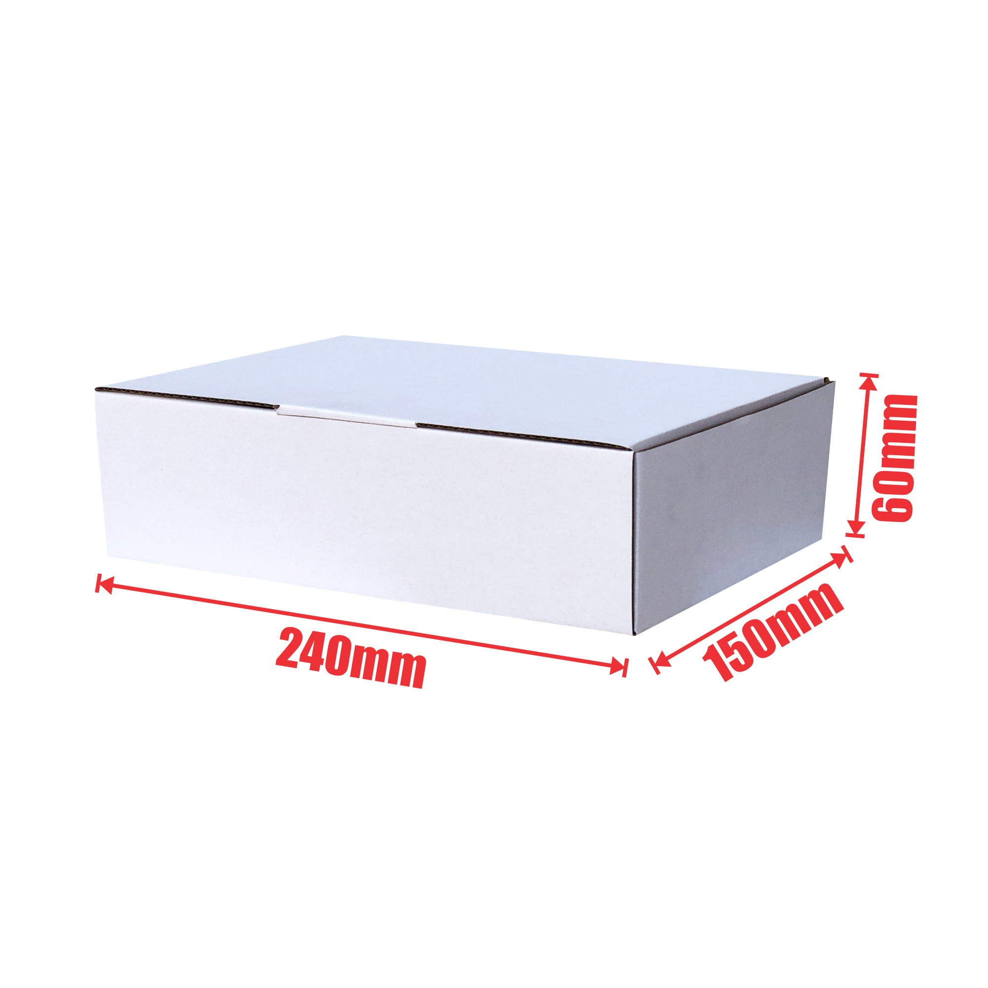 100pcs 240 X 150 X 60mm Diecut Mailing Box