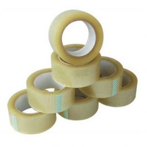 72 Rolls Adhesive Clear Packaging Sealing Tape 45mm x 75m