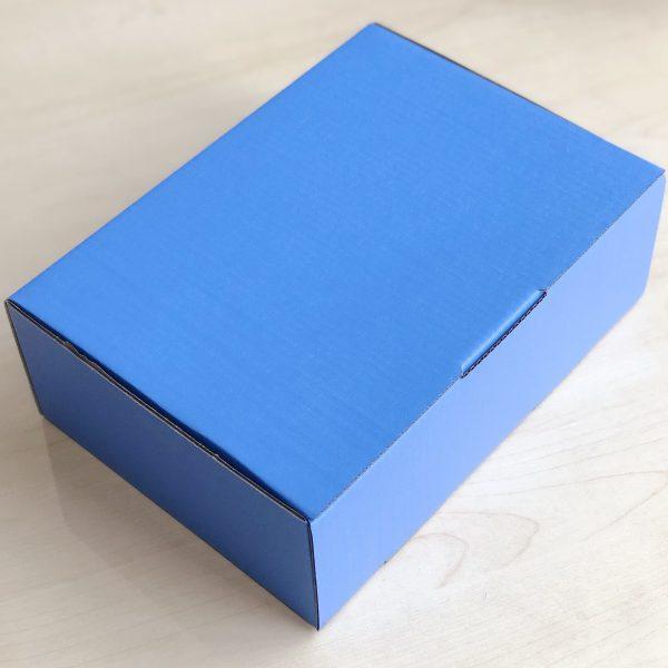 Blue 100pcs 220 x 160 x 77mm Diecut Mailing Box