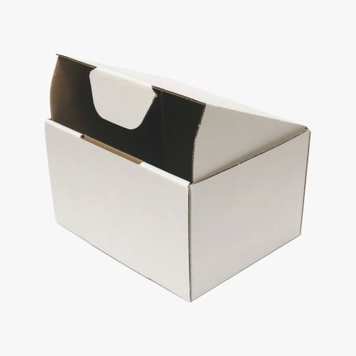 100pcs 150 X 100 X 75mm Diecut Mailing Box White