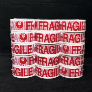 12 Rolls 48mmx75m Fragile Packaging Tapes Moving Packaging