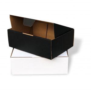 100pcs 220 x 160 x 77mm Diecut Mailing Box White Black