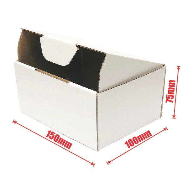 100pcs 150 X 100 X 75mm Diecut Mailing Box White