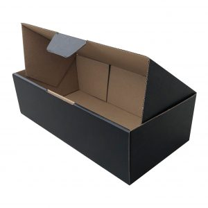 100pcs 240 X 125 X 75mm Diecut Mailing Box Black