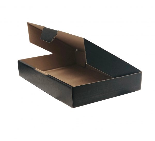 100pcs 220 x 145 x 35mm Diecut Mailing box Black