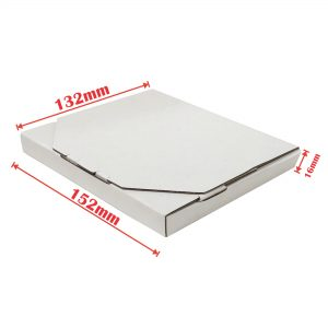 100pcs 152 x 132 x 16mm Diecut Flat Mailing Box