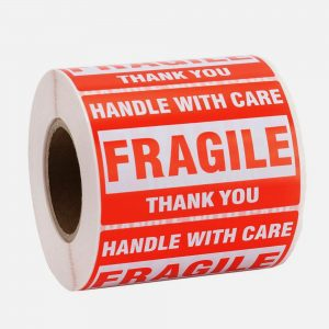 8 Rolls FRAGILE Handle With Care Sticker Label 76x51mm