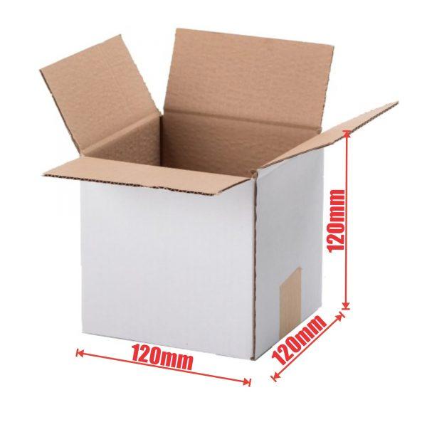 100pcs Regular Slotted 120 x 120 x 120mm Mailing Box