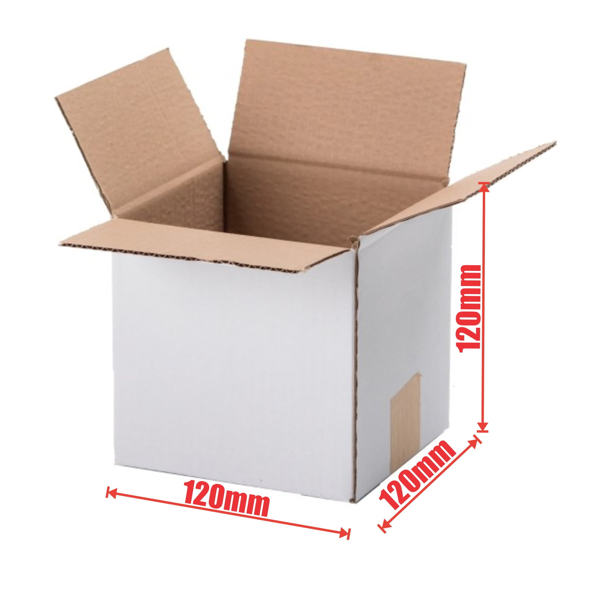 100pcs Regular Slotted 120 x 120 x 120mm Mailing Box