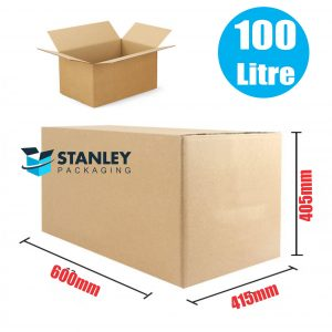 15pcs 100Lt Large Moving Cardboard Carton Boxes Heavy Duty