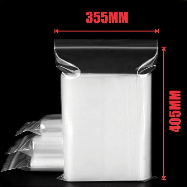 500pcs 355x405mm Resealable Ziplock Plastic Bags