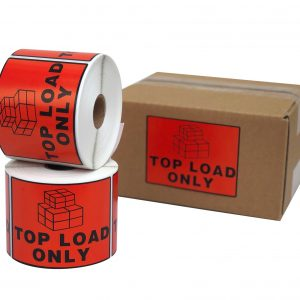Top Load Only Labels 100x72mm Red Perforated Sticker 500pcs/Roll