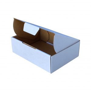 100pcs 175 X 130 X 55mm Diecut Mailing Box White