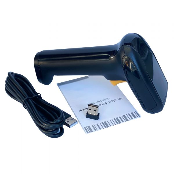 Premium Handheld Barcode Scanner Bluetooth4.0&2.4G Black