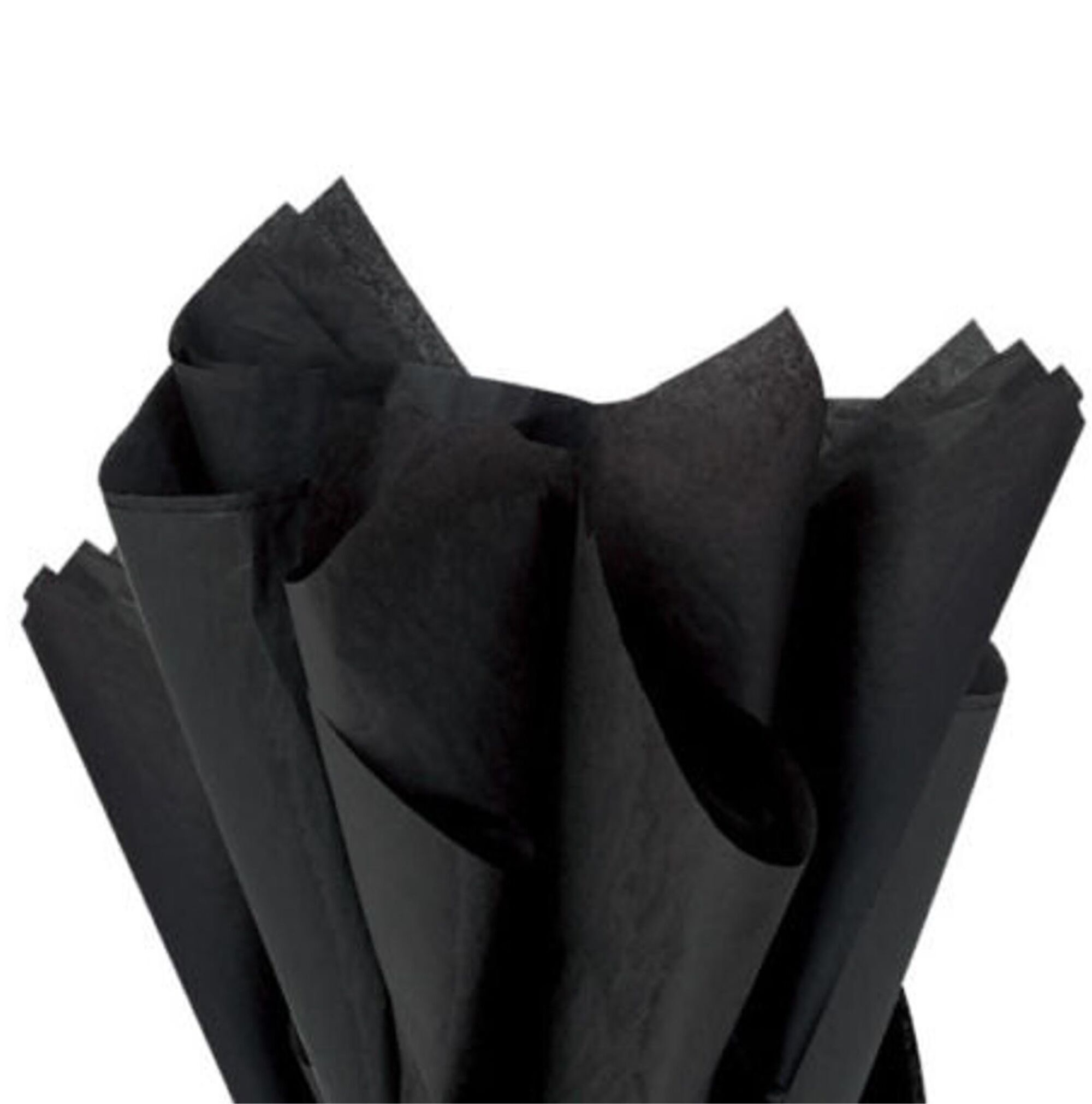 500 Sheets Acid Free Tissue Paper 500x750mm 17gsm Black