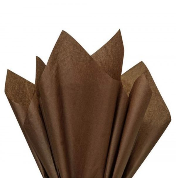 500 Sheets Acid Free Tissue Paper 500x750mm 17gsm Chocolate Brown