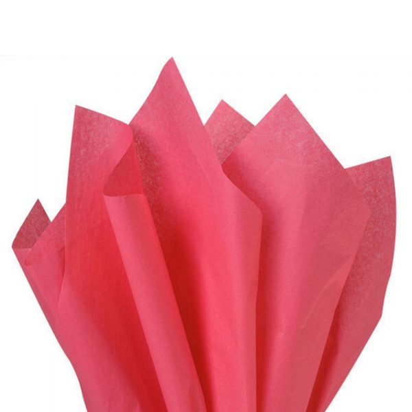 500 Sheets Acid Free Tissue Paper 500x750mm 17gsm CORAL ROSE