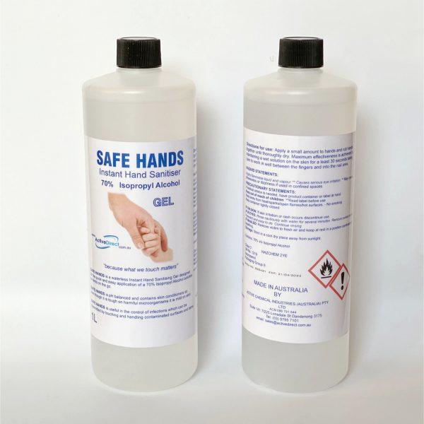 Instant Hand Sanitiser GEL 1L Refills 70% Isopropyl Alcohol