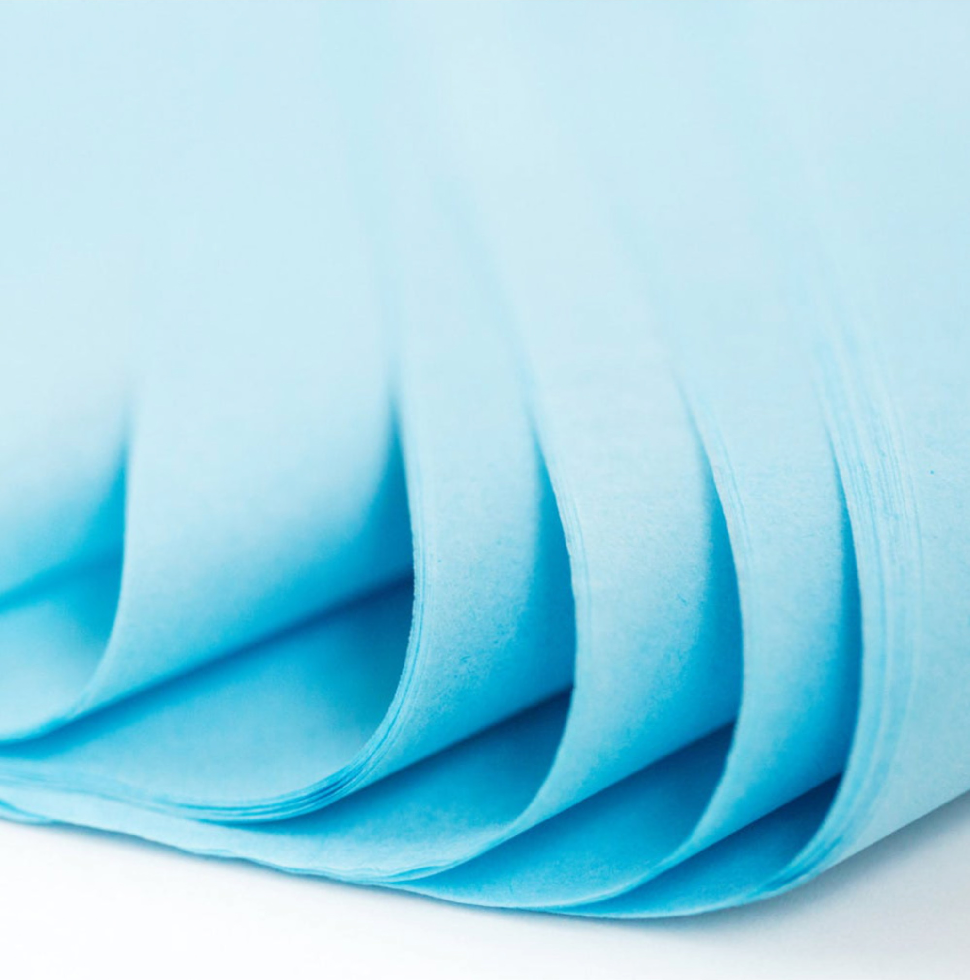 500 Sheets Acid Free Tissue Paper 500x750mm 17gsm Light Blue