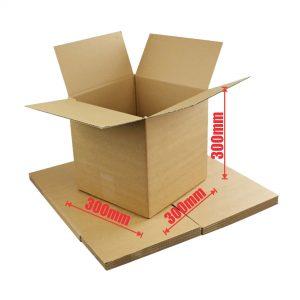 50pcs Regular Slotted 300 x 300 x 300mm Cube Mailing Box